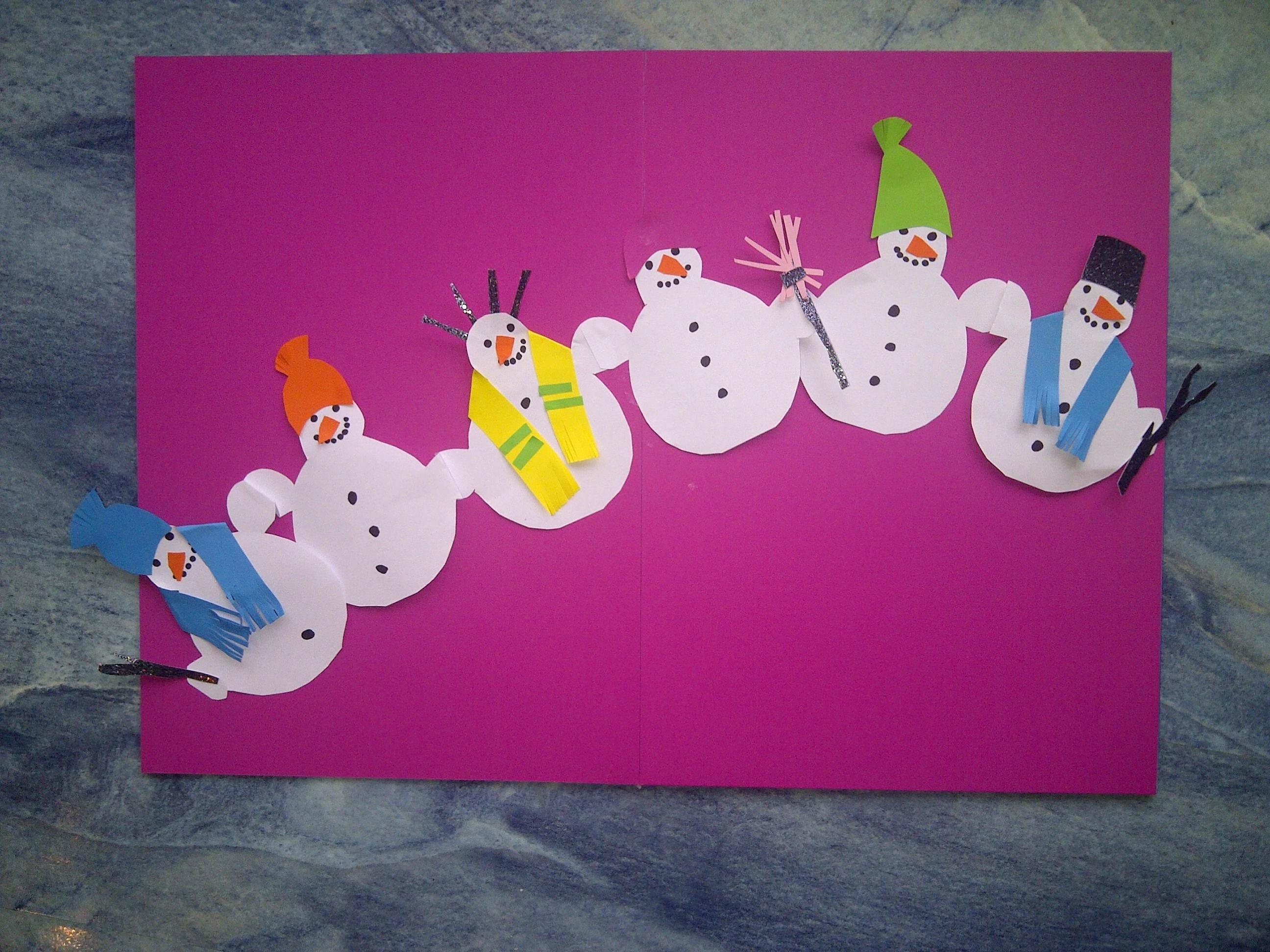 Video-Tutorial. Weihnachtsdeko. Lustige Schneemänner-Girlande basteln