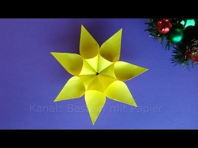 Weihnachtssterne basteln - Weihnachtsdeko - Sterne basteln mit Kindern Weihnachten