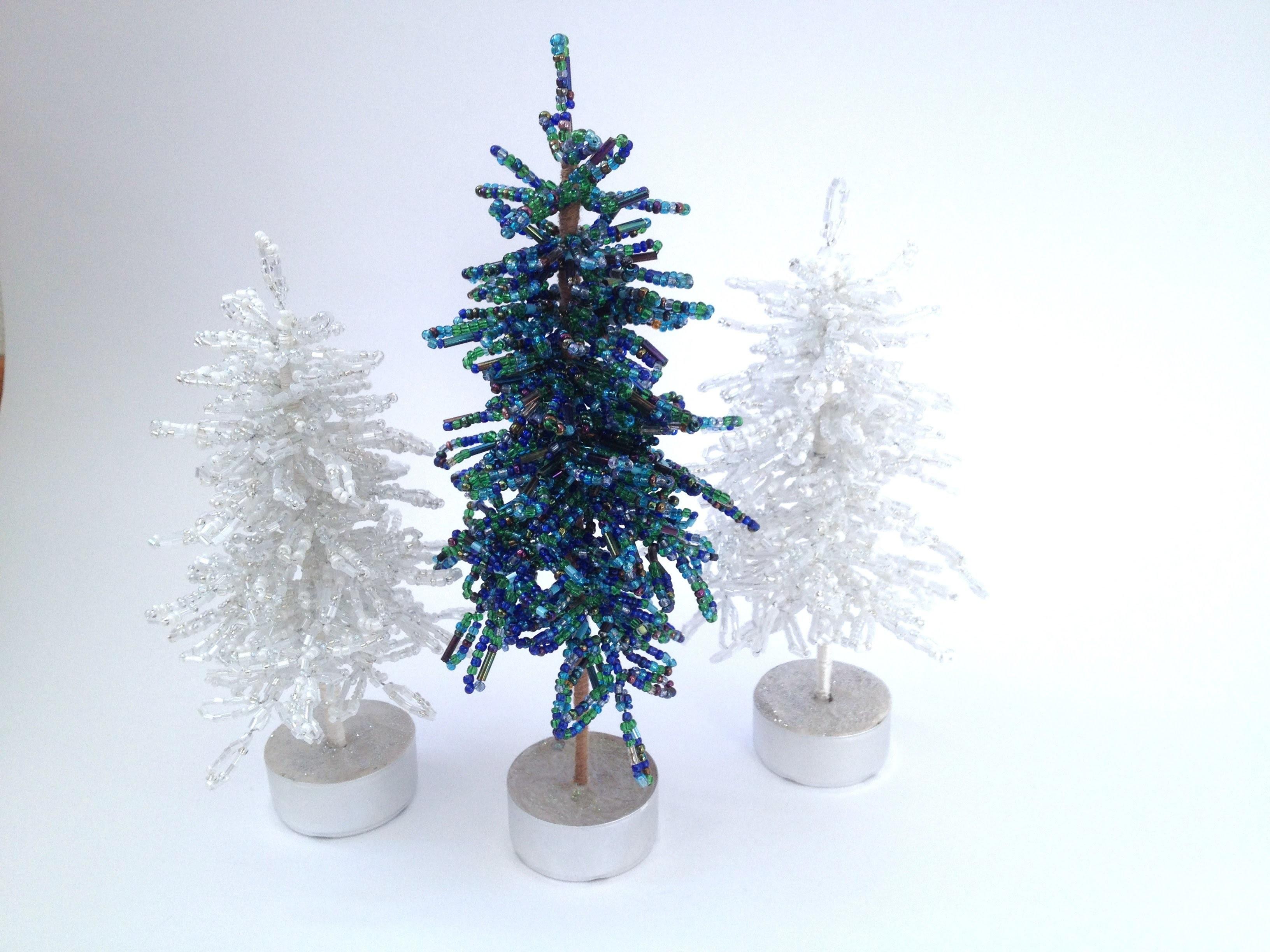 Blaufichte. Fichte. Tannenbaum aus Perlen. Teil 1.2. DIY Weihnachten