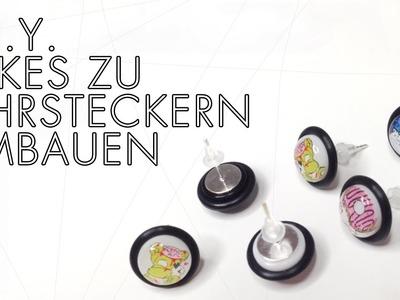 DIY: Fake-Plugs zu Ohrsteckern umbauen + OUTTAKES