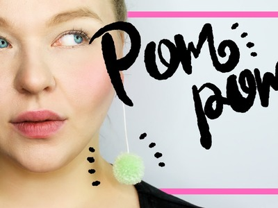 DIYPompom Ohrringe selber machen |Pom Pom Earring Tutorial | ANABANANA ANASTASIA