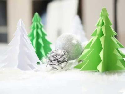 Tannenbaum basteln - Weihnachsbäume selber erstellen DIY