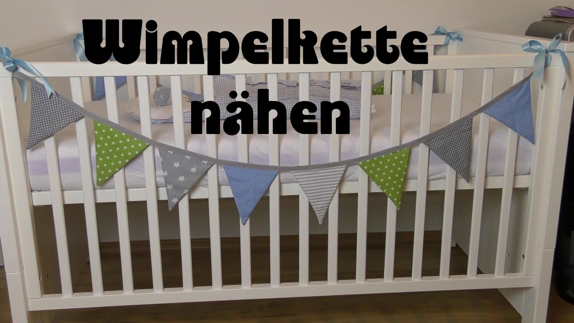 Wimpelkette nähen - Anleitung DIY