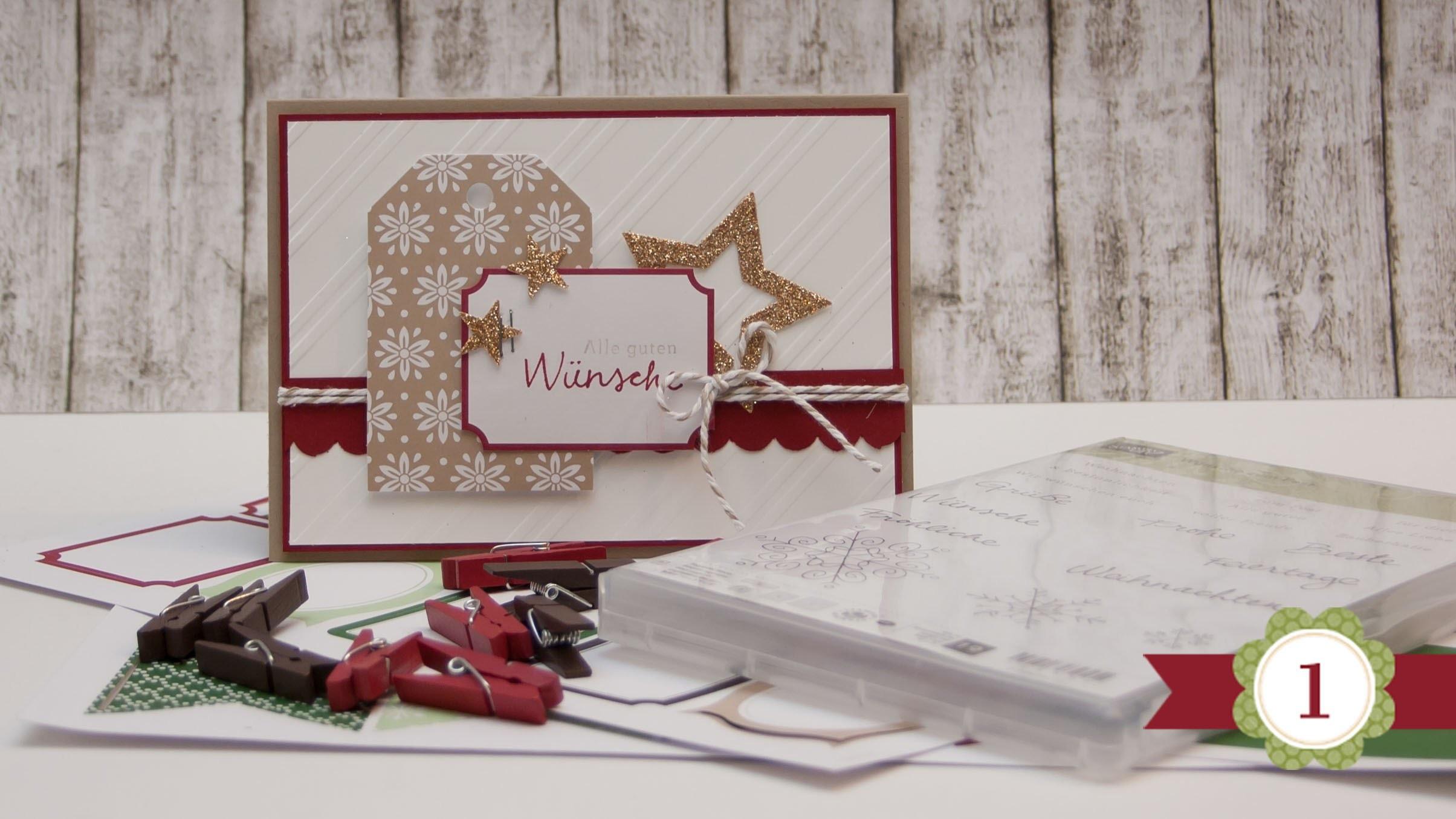 DIY - 12 Karten bis Weihnachten - #01 - Stampin' Up!
