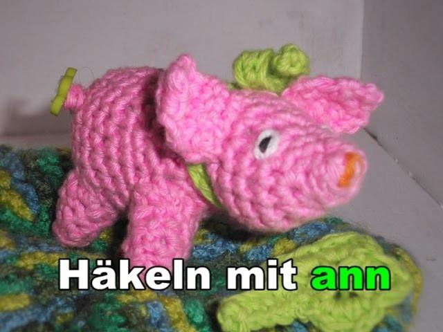 """""""Edgar """" das kleine Glücksschwein( German Version ) Amigurumi"""