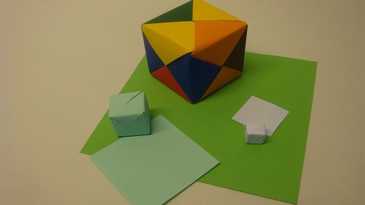 Karton basteln  ❁ Geschenk verpacken  ❁ Würfel falten
