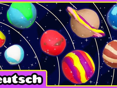 Planeten aus Knete | Play Doh Planets | Plastilin Planeten | Plastilin- Videos für Kinder