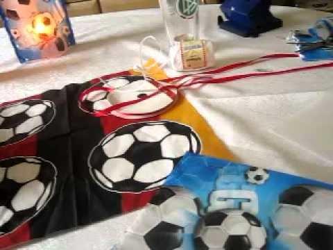 Windlich Nachtlicht selber basteln Fußball super leich und schnell mit Laminierfolie