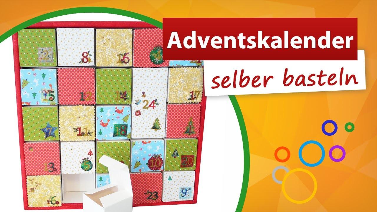 Adventskalender zum selber Basteln ❷❹ Weihnachtskalender Bastelidee ★ trendmarkt24