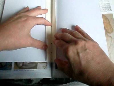 Buch selber machen, Seiten und Umschlag lochen