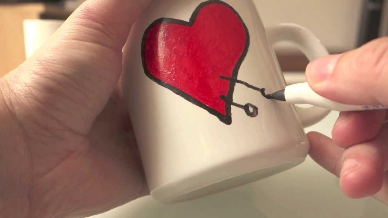 DIY auf die Schnelle Teil 3: Wie man seine eigene Tasse gestaltet. How to create your own mug