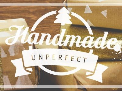 DIY | Geschenkpapier selbst bedrucken & selber basteln | Selbstgemachte Stempel