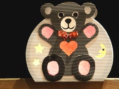 Laternen basteln: Teddybär-Laterne basteln zum St. Martinstag