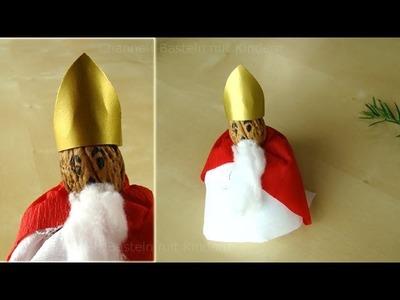 Nikolaus basteln - Weihnachtsmann basteln - Basteln Advent & Weihnachten