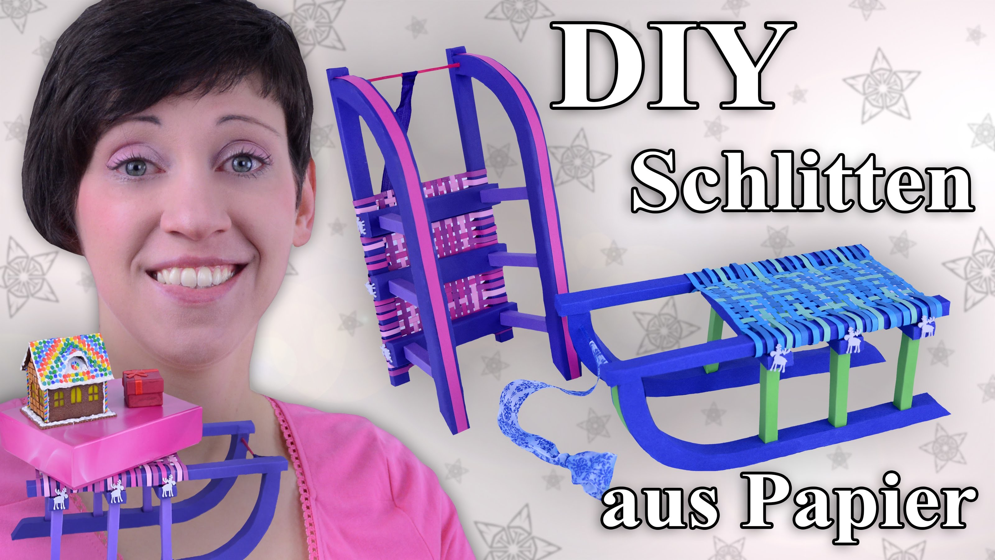 Schlitten (Davoser) aus Papier - Bastelanleitung
