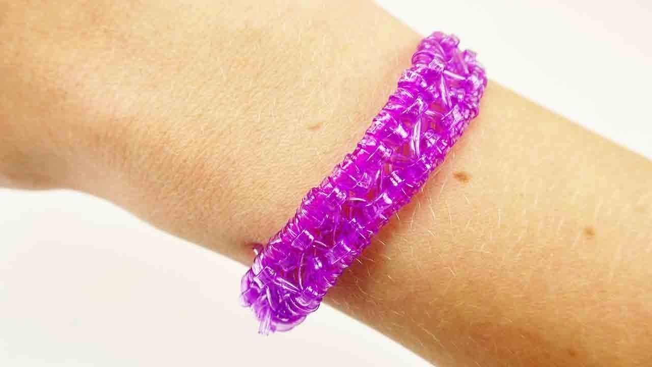 Scoubidou Armband neues Muster   Tolles Freundschaftsarmband selber machen   DIY