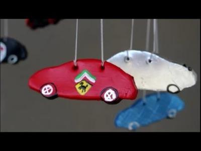 DIY: Mobile mit Autos ☺ Mobilé selber machen für's Kinderzimmer ♥ Basteln mit Kinder ♥
