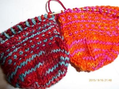Nadelspiel Sockenkalender * 2 Socken gleichzeitig stricken * Teil 3