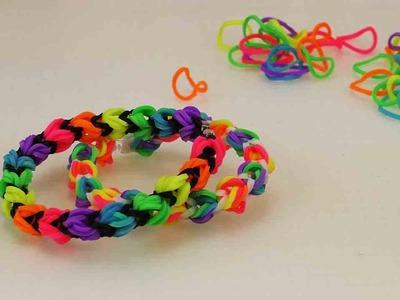 Neues Loom Armband | Alpha Loom & normalen Bändern | Regenbogen Armband