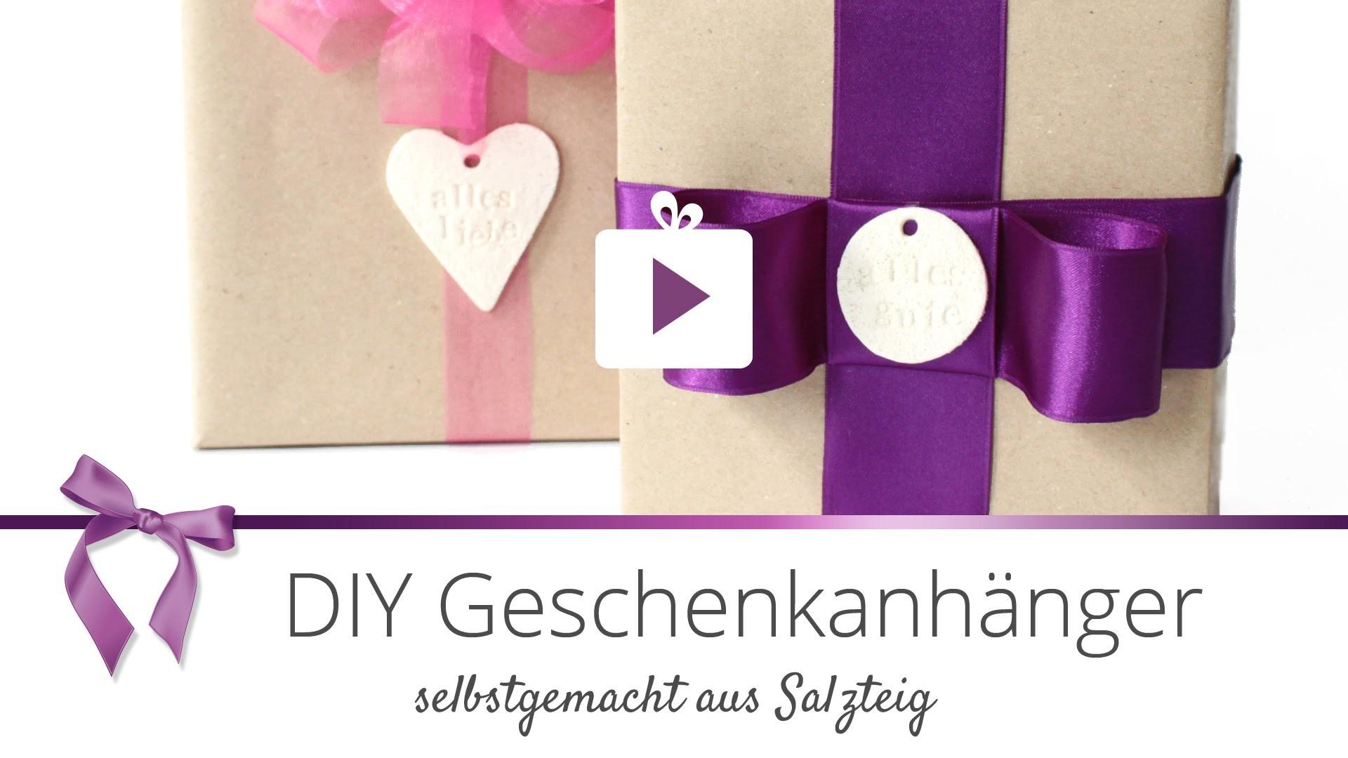 [Geschenke verpacken] Geschenanhänger aus Salzteig basteln | DANATO