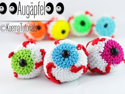 Halloween Augapfel - Eyeballs Häkelanleitung
