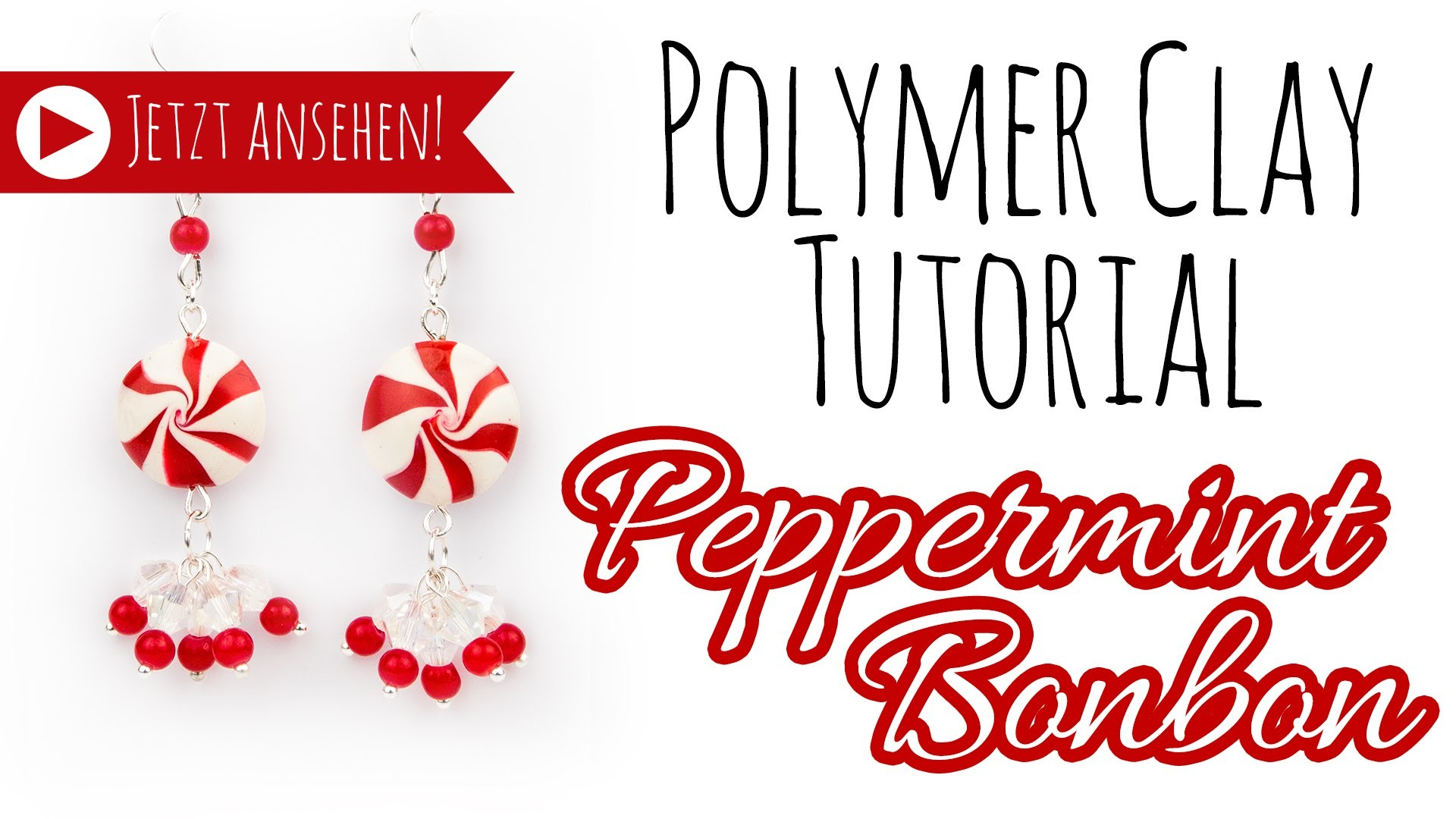 [PolymerClay Tutorial | Einfach] Pfefferminz Bonbon Ohrringe