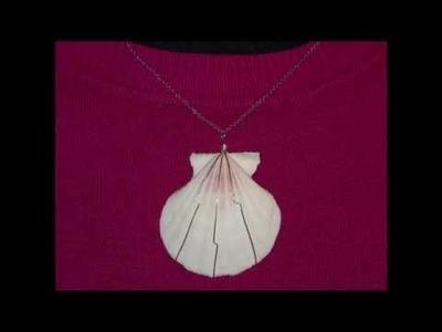 DIY Easy wire wrap shell pendant  |  Einfacher Muschelkettenanhänger
