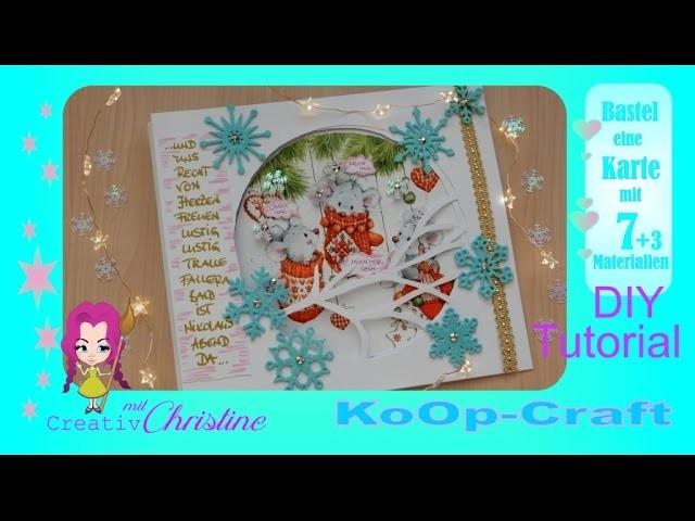 . KoOpCraft* Tutorial*DIY.  Meine tierische WeihnachtsKarte.