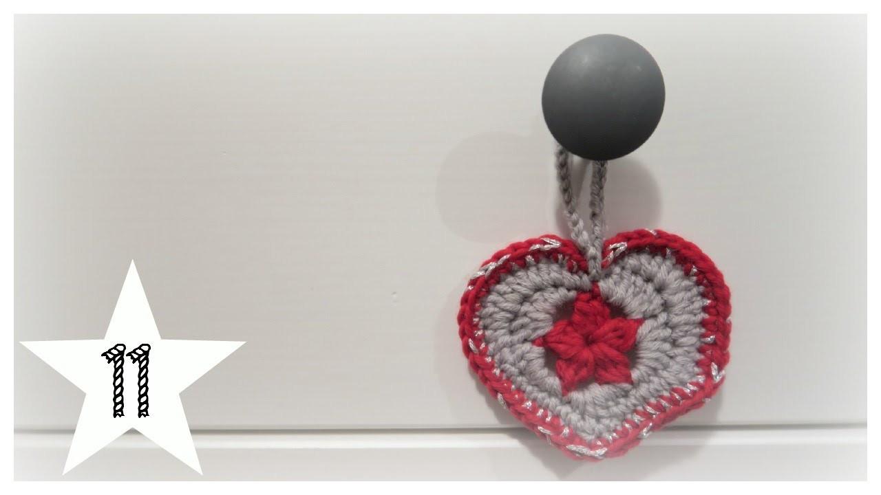 Türchen 11| Stern im Herz| biggihäkelt