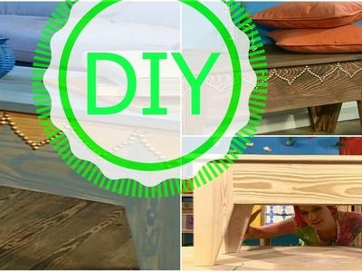 Unbehandelte Holzmöbel umgestalten | DIY Dekotipp Ziernägeln
