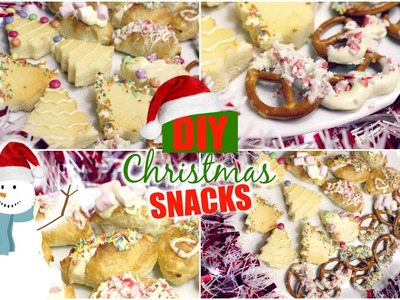 CHRISTMAS SNACKS DIY: Easy & Schnell | LAST MINUTE IDEEN | HD Deutsch