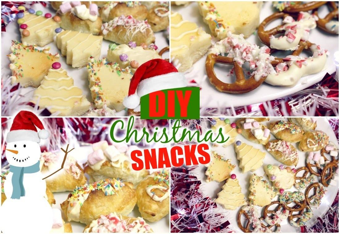 CHRISTMAS SNACKS DIY: Easy & Schnell | LAST MINUTE IDEEN | HD Deutsch