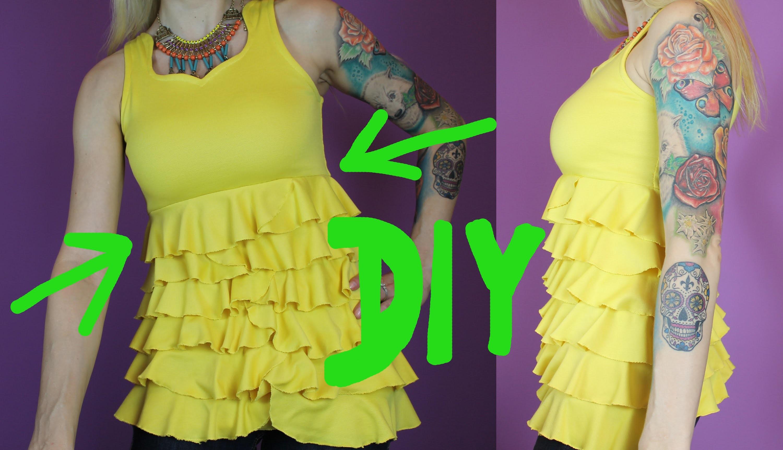 DIY - Alison DiLaurentis inspirierter gelber Top, 1.6, Pretty Little Liars Style