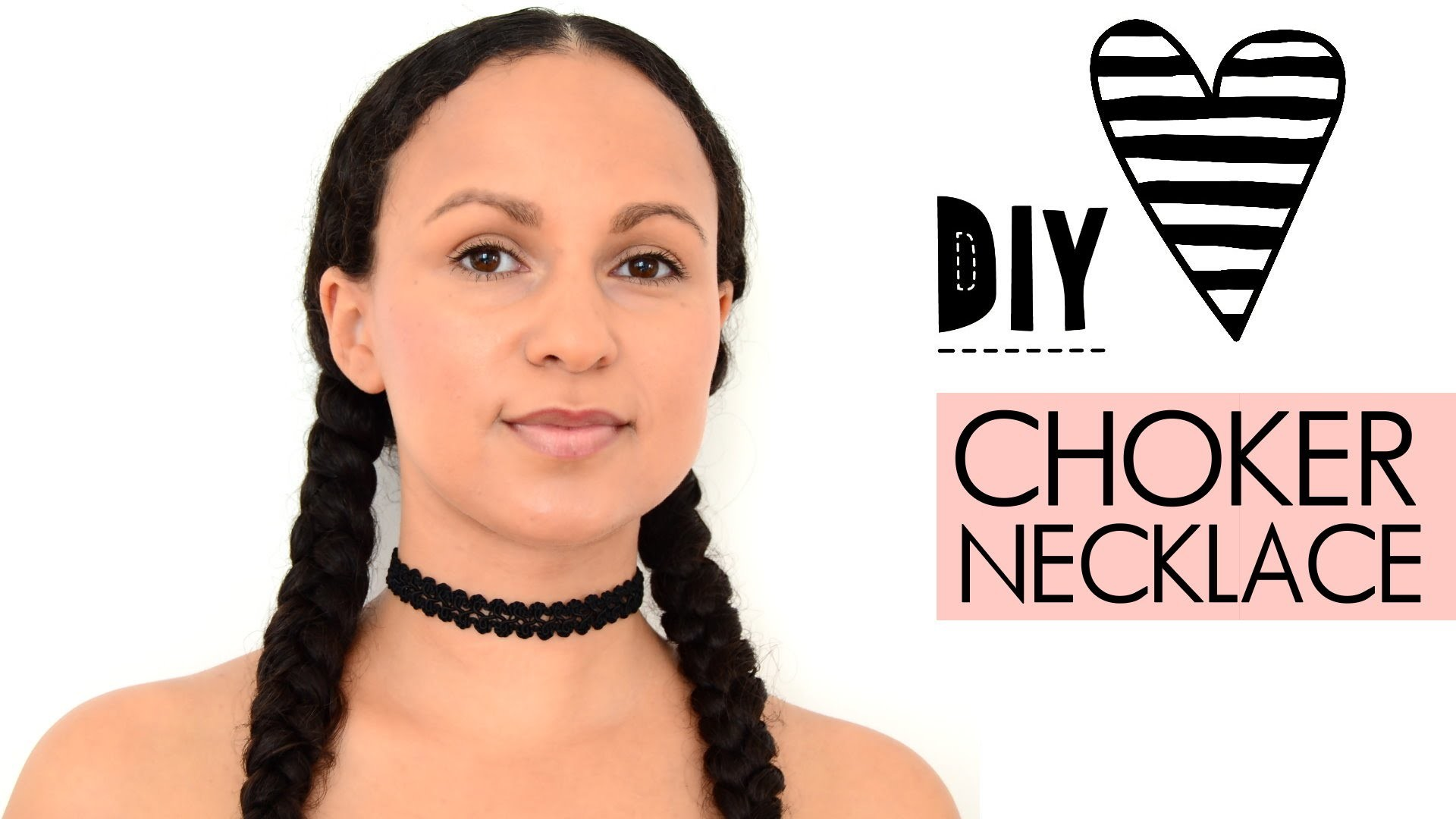 ♥ DIY Choker Kette einfach selbst machen - Tattoo Necklace, Halskette aus Spitzenborte