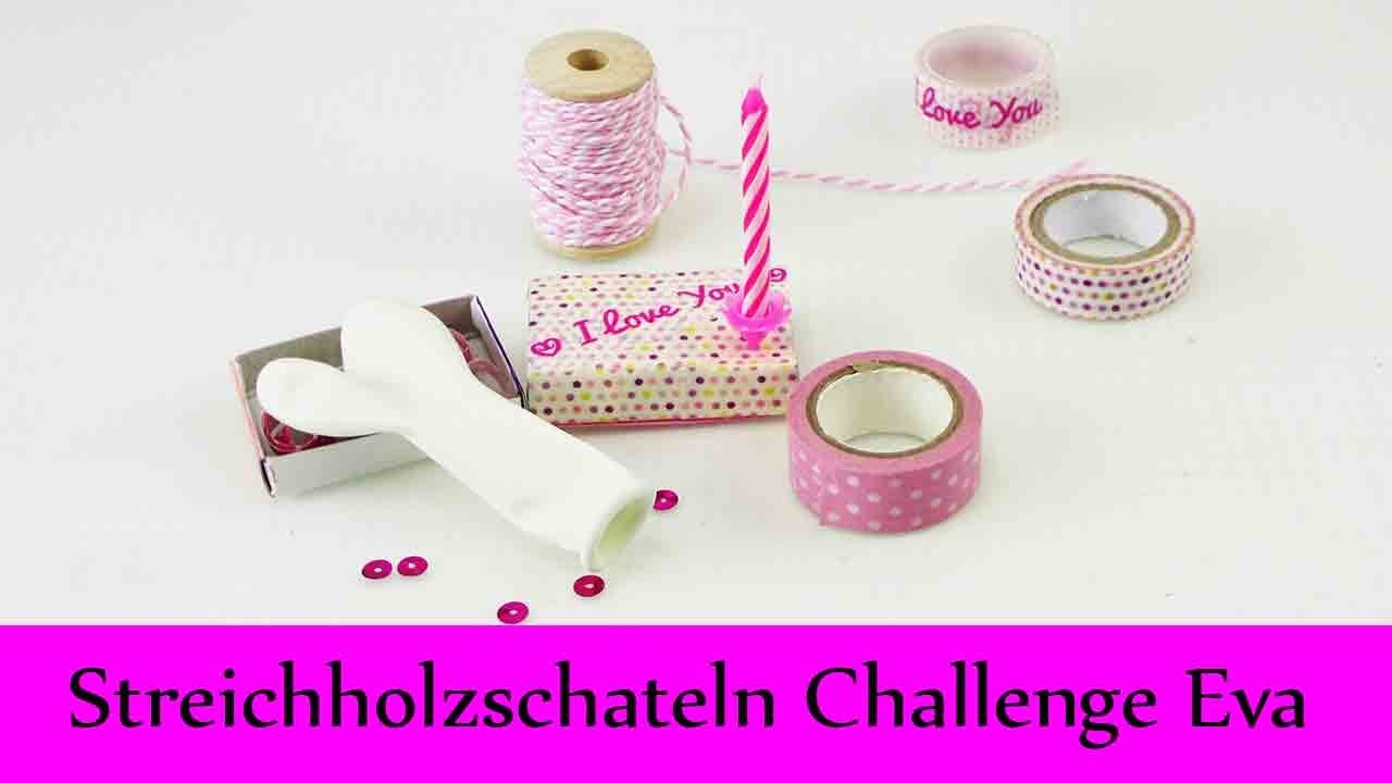 DIY Inspiration Challenge #31 Streichholzschachteln | Evas Challenge | Tutorial - Do it yourself