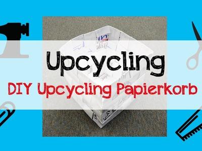 DIY Upcycling Papierkorb Tutorial