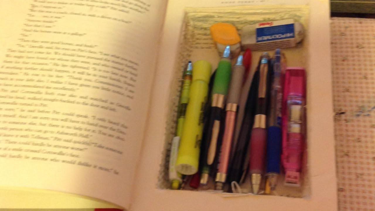 Ein Ausgehöhltes Buch Basteln - DIY Home - Guidecentral