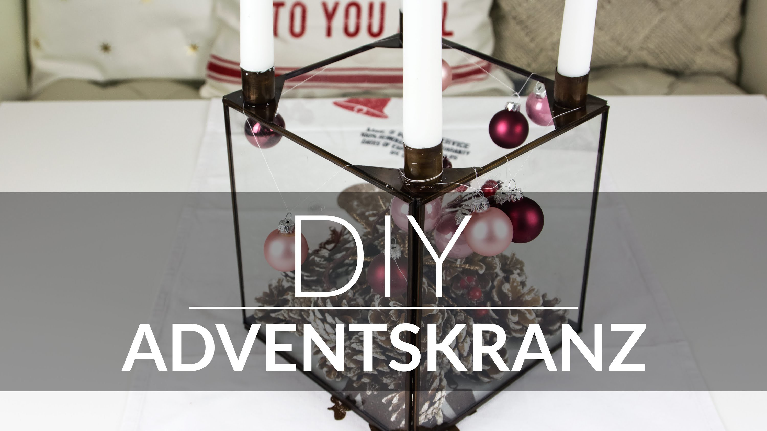 DIY - ADVENTSKRANZ. ADVENT WREATH