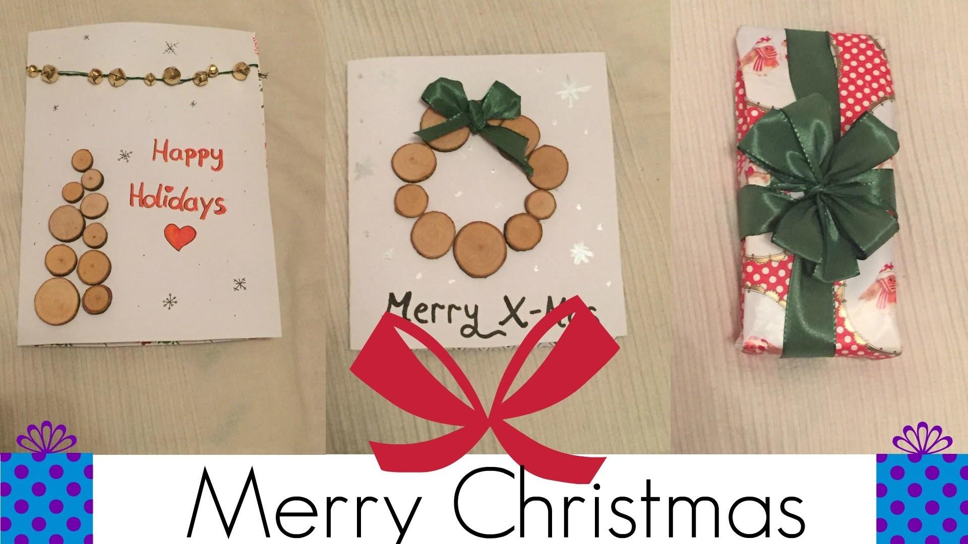 DIY Weihnachtskarten und Geschenkverzierung. AllyAndSeli