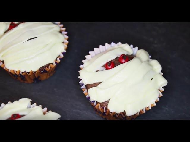 Pinterest inspired Mumien Cupcakes | DIY Halloween Snacks