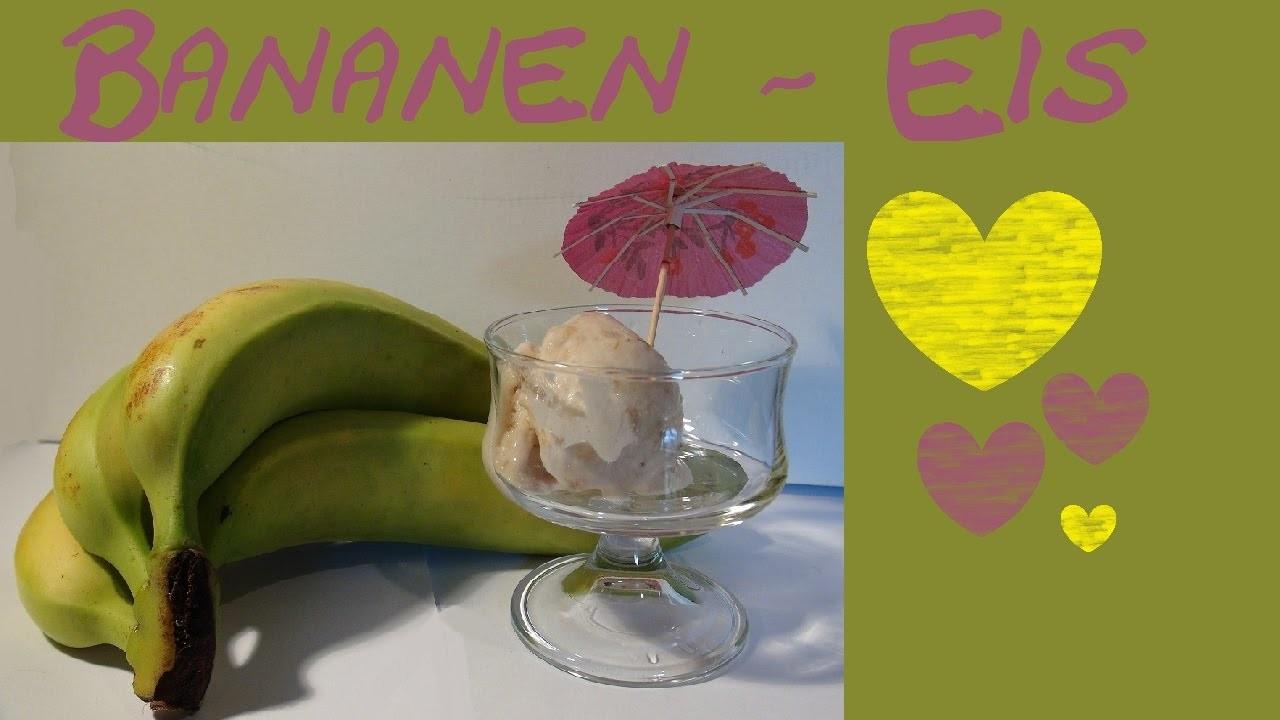DIY Eis selber machen mit frischen leckeren Bananen. diy ice cream Sommer Summer Ice Cream