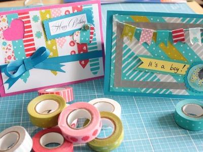 DIY Eule: Anleitung Washi Tape Karten