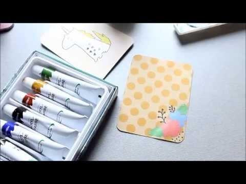 DIY - Projekt life Karten bemalen