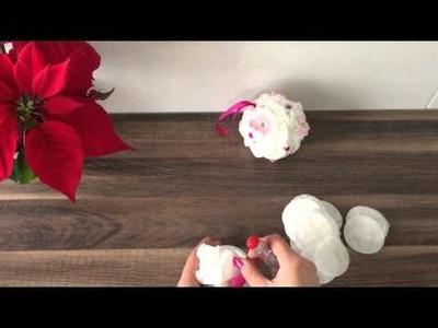 DIY Schneeball Weihnachtskugel basteln, Geschenke für Weihnachten