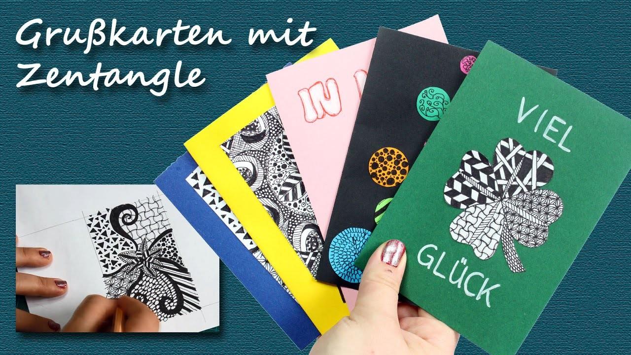 DIY Speed Drawing: Grußkarten mit Zentangle. Mandala | kreativBUNT