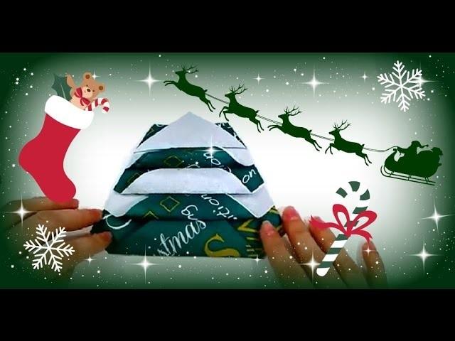 Last Minute Servietten falten für Weihnachten ♥ Tannenbaum falten ♥ DIY Inspiration Bastelideen