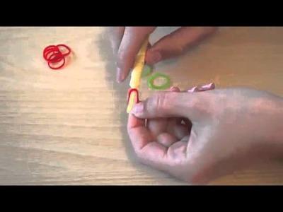 Rainbow Loom Kirsche deutsche Anleitung #1
