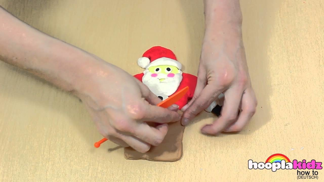 Wie Man Aus Knete Weihnachtsmann Machen - How To Make PlayDoh Santa | Christmas Play-Doh Creations