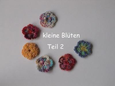 13.3 - STRICKEN : kleine Blüte - Teil 2