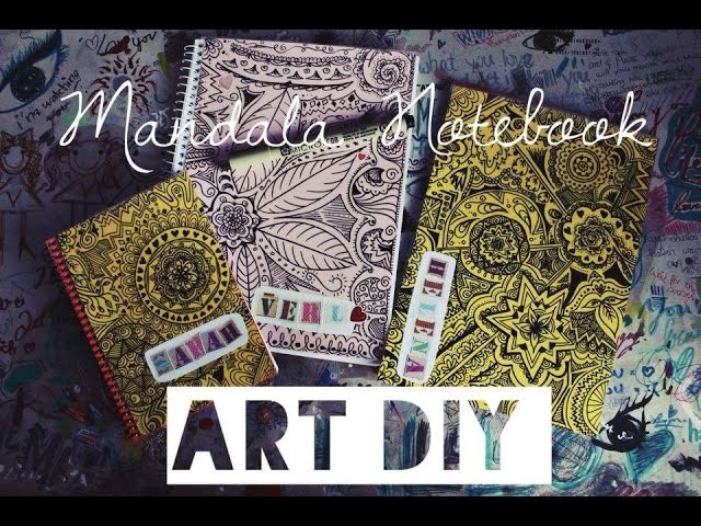 Art DIY Gift Idea - Mandala.Doodle Notebook